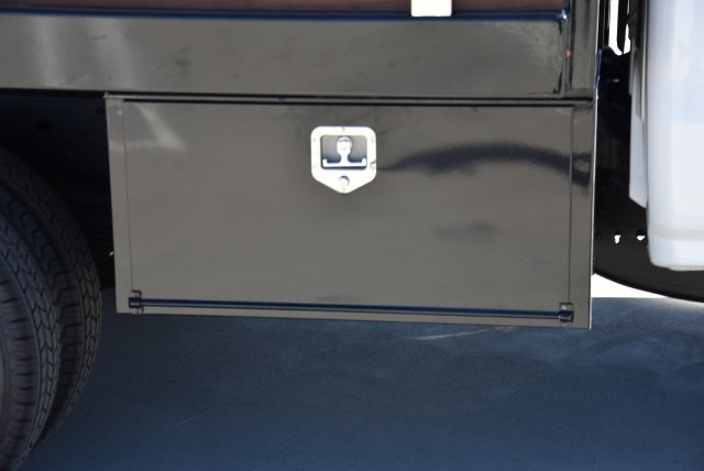 2019 Silverado 3500 Regular Cab DRW 4x2,  Harbor Black Boss Stake Bed Flat/Stake Bed #M19063 - photo 9