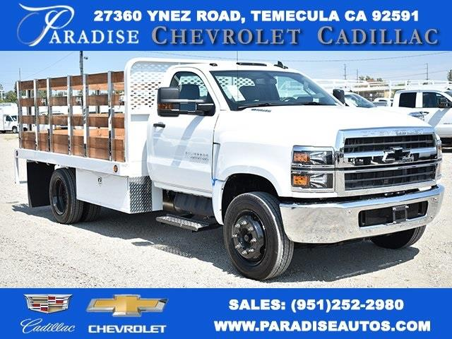 2019 Chevrolet Silverado 4500 Regular Cab DRW 4x2, Scelzi Flat/Stake Bed #M191265 - photo 1