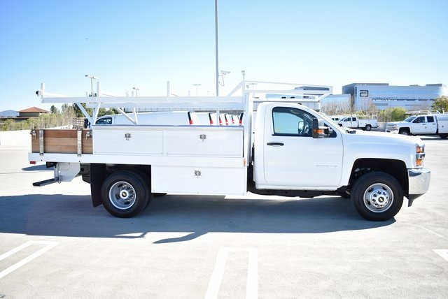 2019 Silverado 3500 Regular Cab DRW 4x2,  Harbor Contractor Body #M19147 - photo 10
