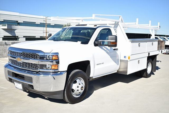 2019 Silverado 3500 Regular Cab DRW 4x2,  Harbor Contractor Body #M19147 - photo 6