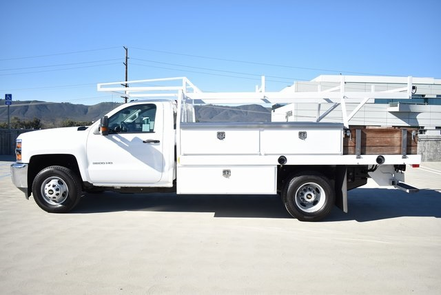 2019 Silverado 3500 Regular Cab DRW 4x2,  Harbor Contractor Body #M19147 - photo 7