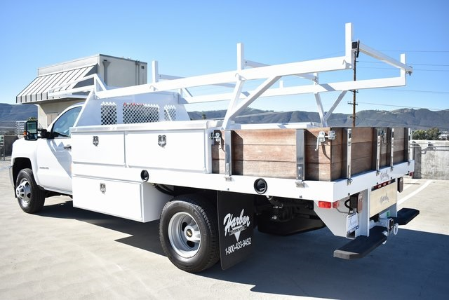 2019 Silverado 3500 Regular Cab DRW 4x2,  Harbor Contractor Body #M19147 - photo 8