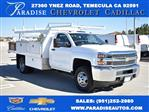 2019 Silverado 3500 Regular Cab DRW 4x2,  Harbor Contractor Body #M19147 - photo 1