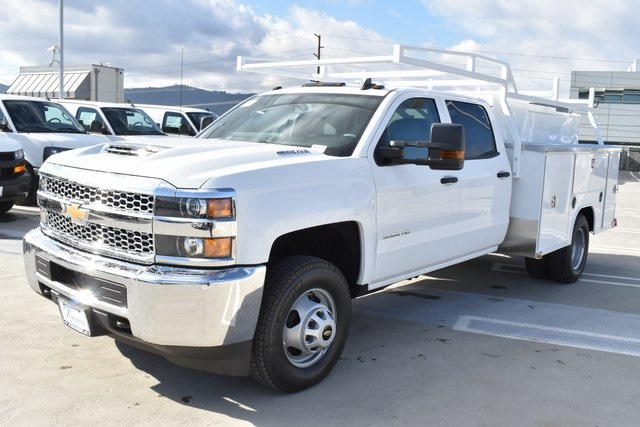 2019 Silverado 3500 Crew Cab DRW 4x4,  Harbor Utility #M19174 - photo 6