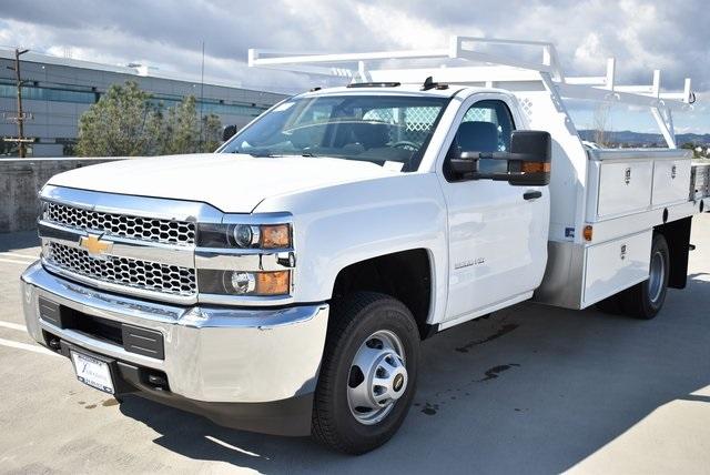 2019 Silverado 3500 Regular Cab DRW 4x2,  Harbor Standard Contractor Body #M19217 - photo 6