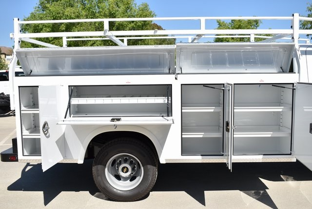 2019 Silverado 3500 Regular Cab DRW 4x2,  Harbor Black Boss Platform Body #M19242 - photo 2
