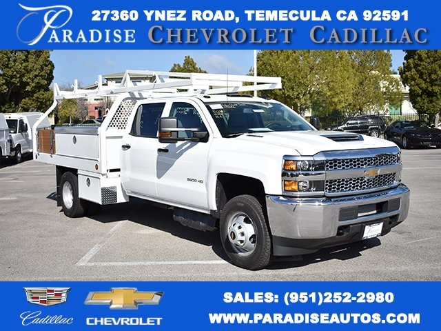 2019 Silverado 3500 Crew Cab DRW 4x2,  Royal Contractor Body #M19317 - photo 1