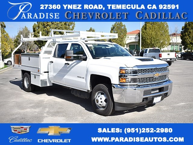 2019 Silverado 3500 Crew Cab DRW 4x2,  Royal Contractor Body #M19318 - photo 1