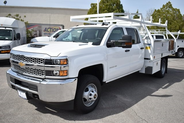 2019 Silverado 3500 Crew Cab DRW 4x2,  Royal Contractor Body #M19352 - photo 5