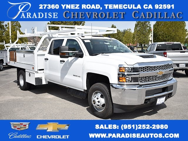 2019 Silverado 3500 Crew Cab DRW 4x2,  Royal Contractor Body #M19353 - photo 1