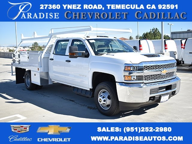 2019 Silverado 3500 Crew Cab DRW 4x2,  Scelzi Contractor Body #M19412 - photo 1