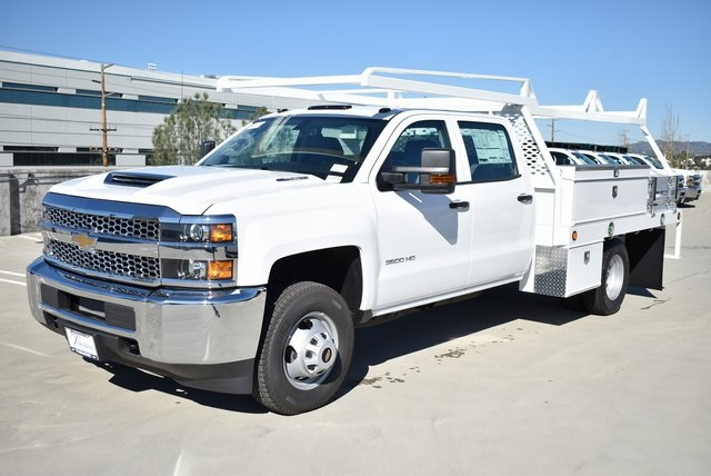 2019 Silverado 3500 Crew Cab DRW 4x2,  Scelzi Contractor Body #M19412 - photo 6