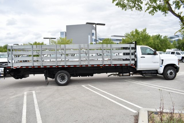 2019 Silverado Medium Duty DRW 4x2,  Morgan Prostake Stake Bed Flat/Stake Bed #M19418 - photo 9