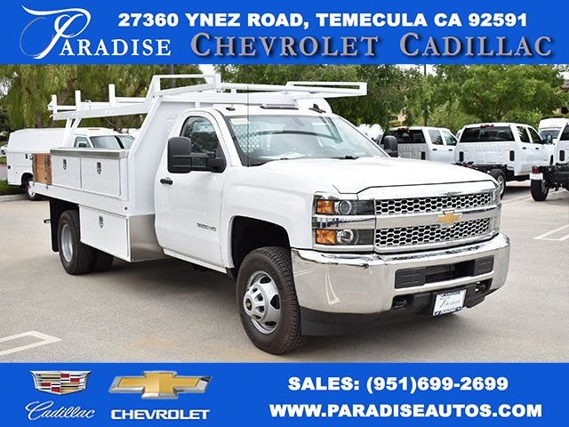 2019 Silverado 3500 Regular Cab DRW 4x2,  Harbor Contractor Body #M19424 - photo 1