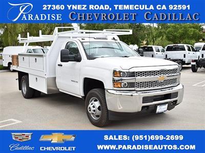 2019 Silverado 3500 Regular Cab DRW 4x2,  Harbor Standard Contractor Body #M19424 - photo 1