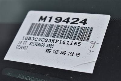 2019 Silverado 3500 Regular Cab DRW 4x2,  Harbor Standard Contractor Body #M19424 - photo 4