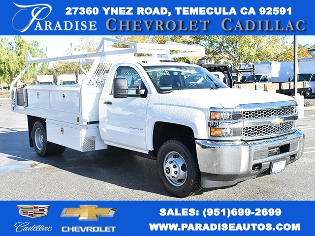 2019 Silverado 3500 Regular Cab DRW 4x2,  Royal Contractor Body #M19524 - photo 1