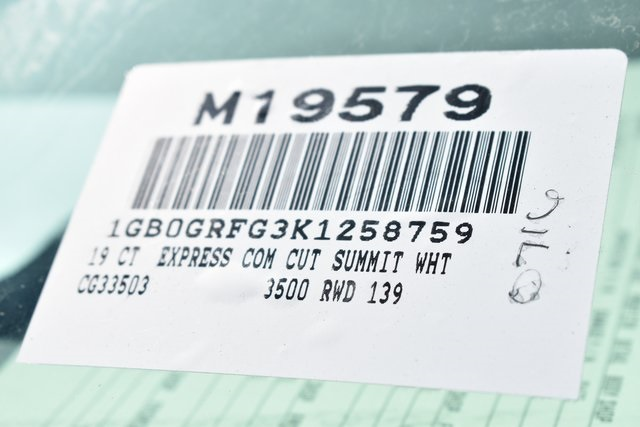 2019 Express 3500 4x2, Supreme Spartan Cargo Straight Box #M19579 - photo 3