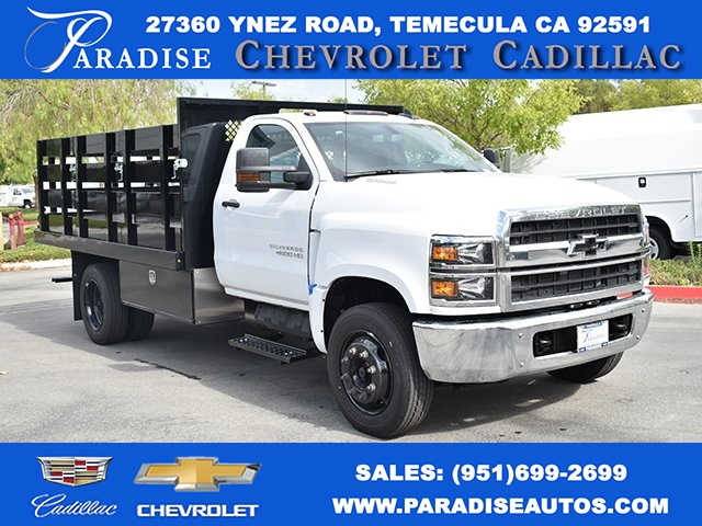 2019 Silverado Medium Duty DRW 4x2,  Harbor Flat/Stake Bed #M19699 - photo 1