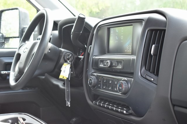 2019 Silverado Medium Duty Regular Cab DRW 4x2,  Harbor Black Boss Stake Bed Flat/Stake Bed #M19699 - photo 12