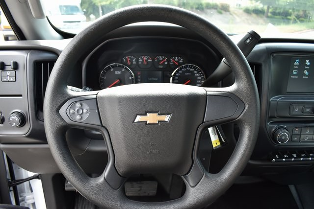 2019 Silverado Medium Duty Regular Cab DRW 4x2,  Harbor Black Boss Stake Bed Flat/Stake Bed #M19699 - photo 17
