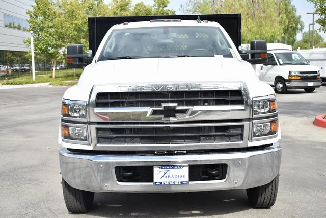 2019 Silverado Medium Duty Regular Cab DRW 4x2,  Harbor Black Boss Stake Bed Flat/Stake Bed #M19699 - photo 5