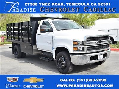 2019 Silverado Medium Duty Regular Cab DRW 4x2,  Harbor Black Boss Stake Bed Flat/Stake Bed #M19699 - photo 1