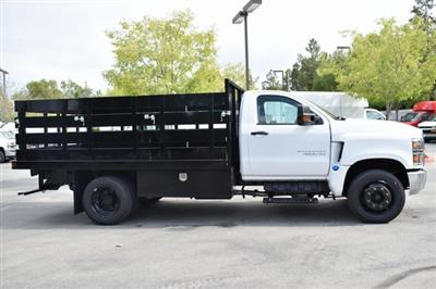 2019 Silverado Medium Duty Regular Cab DRW 4x2,  Harbor Black Boss Stake Bed Flat/Stake Bed #M19699 - photo 10