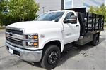 2019 Silverado Medium Duty Regular Cab DRW 4x2,  Harbor Black Boss Stake Bed Flat/Stake Bed #M19699 - photo 6