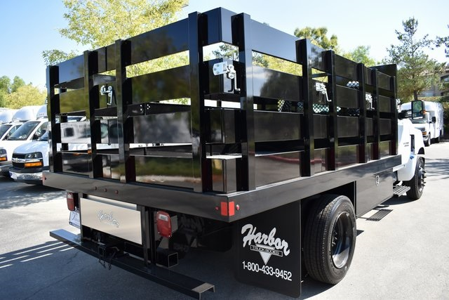 2019 Silverado Medium Duty Regular Cab DRW 4x2,  Harbor Black Boss Stake Bed Flat/Stake Bed #M19733 - photo 2