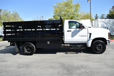 2019 Silverado Medium Duty Regular Cab DRW 4x2,  Harbor Black Boss Stake Bed Flat/Stake Bed #M19733 - photo 10