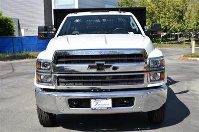 2019 Silverado Medium Duty Regular Cab DRW 4x2,  Harbor Black Boss Stake Bed Flat/Stake Bed #M19733 - photo 5