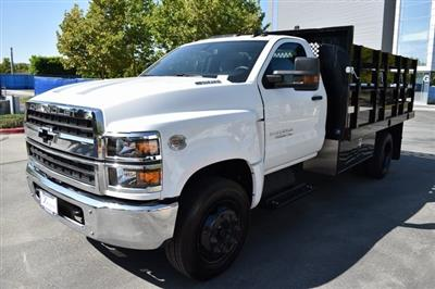 2019 Silverado Medium Duty Regular Cab DRW 4x2,  Harbor Black Boss Stake Bed Flat/Stake Bed #M19733 - photo 6