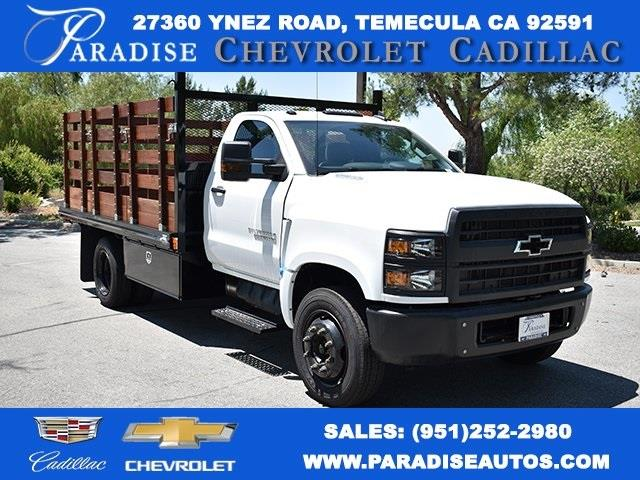 2020 Chevrolet Silverado 5500 Regular Cab DRW 4x2, Martin Flat/Stake Bed #M20081 - photo 1