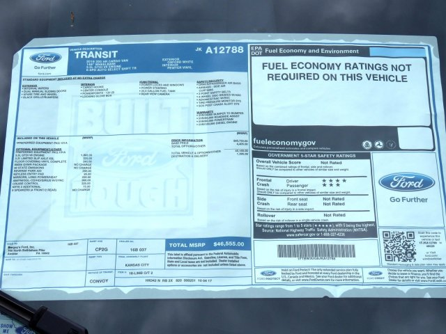 2018 Transit 350 High Roof 4x2,  Empty Cargo Van #JKA12788 - photo 9
