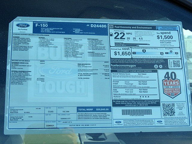 2018 F-150 Regular Cab, Pickup #JKD24486 - photo 8