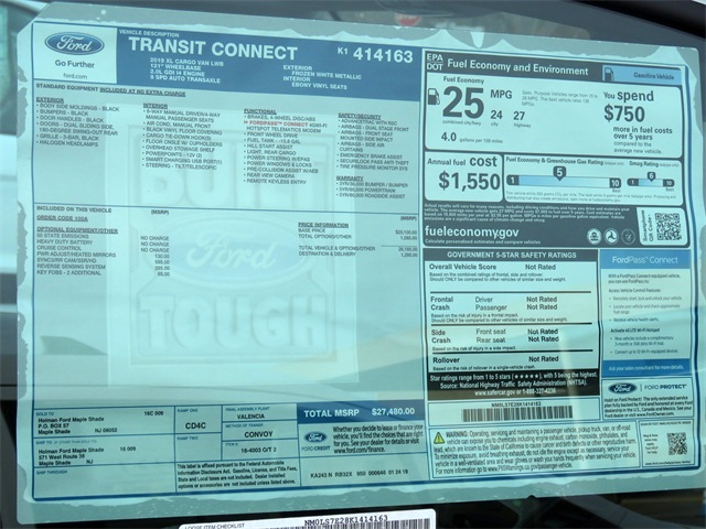 2019 Transit Connect 4x2,  Empty Cargo Van #K1414163 - photo 8