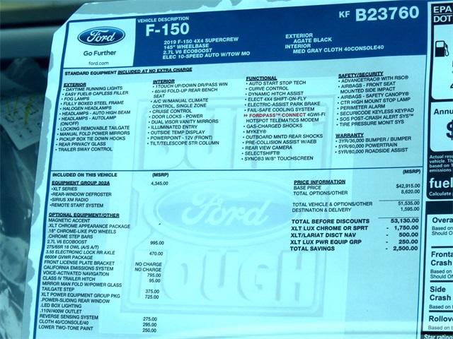 2019 F-150 SuperCrew Cab 4x4,  Pickup #KFB23760 - photo 10