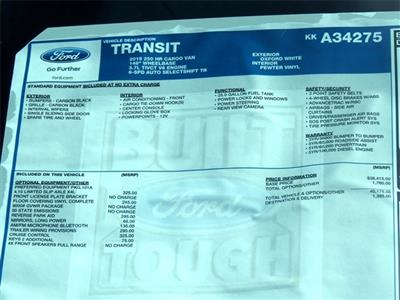 2019 Transit 250 High Roof 4x2,  Empty Cargo Van #KKA34275 - photo 10