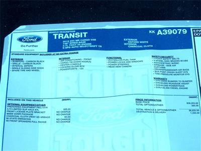 2019 Transit 250 Med Roof 4x2,  Empty Cargo Van #KKA39079 - photo 9