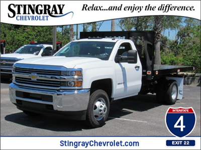 2018 Silverado 3500 Regular Cab DRW 4x4,  Knapheide Value-Master X Platform Body #JF137323 - photo 1