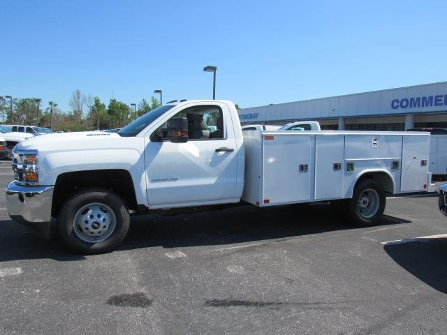 2018 Silverado 3500 Regular Cab DRW 4x4,  Reading Service Body #JF214197 - photo 3