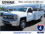 2018 Silverado 3500 Regular Cab DRW 4x4,  Reading Service Body #JF214197 - photo 1