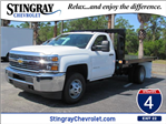 2018 Silverado 3500 Regular Cab DRW, Platform Body #JF229835 - photo 1