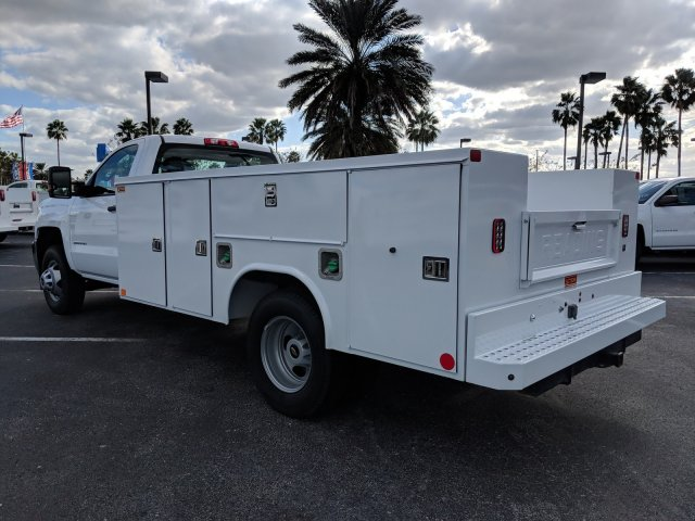 2018 Silverado 3500 Regular Cab DRW 4x2,  Reading Service Body #JF237324 - photo 6