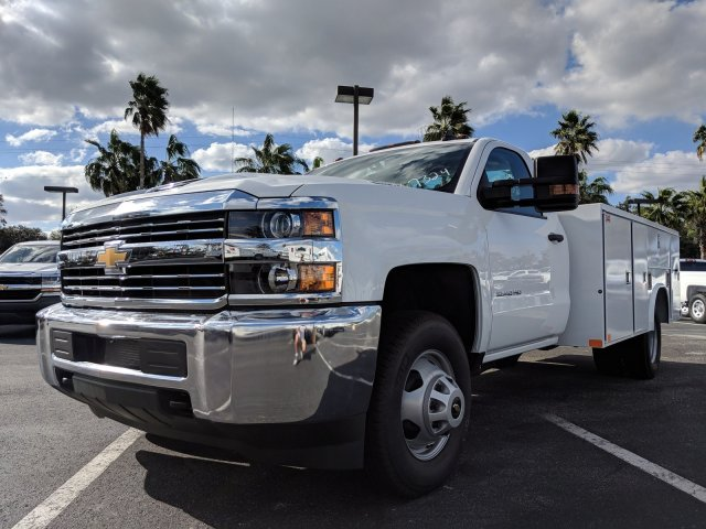 2018 Silverado 3500 Regular Cab DRW 4x2,  Reading Service Body #JF237324 - photo 8