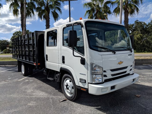 2018 LCF 4500 Crew Cab 4x2,  Action Fabrication Stake Bed #JS805874 - photo 3