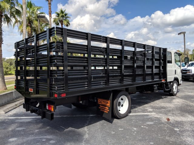 2018 LCF 4500 Crew Cab 4x2,  Action Fabrication Stake Bed #JS805874 - photo 1