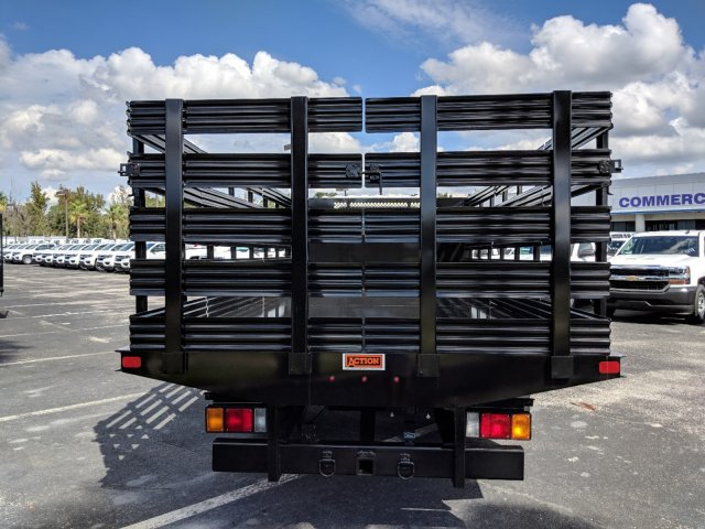 2018 LCF 4500 Crew Cab 4x2,  Action Fabrication Stake Bed #JS805874 - photo 5