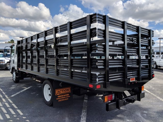 2018 LCF 4500 Crew Cab 4x2,  Action Fabrication Stake Bed #JS805874 - photo 6